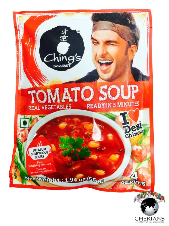 CHINGS TOMATO VEGETABLE SOUP 55G