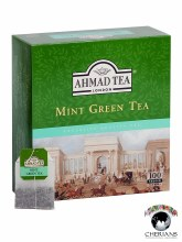 AHMAD TEA LONDON MINT GREEN TEA 100 TEA BAGS/ 200G