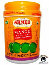 AHMED FOODS- MANGO PICKLE IN OIL (HYDERABADI TASTE) 1KG