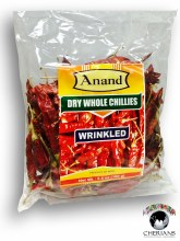 ANAND DRY WHOLE CHILLIES WRINKLED 100G