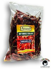 ANAND DRY WHOLE CHILLIES WRINKLED 200G
