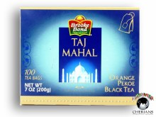 BROOKE BOND TAJ MAHAL ORANGE PEKOE 100 TEA BAGS