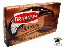 BRITANNIA BOURBON CHOCO CREAM BISCUITS 390G