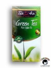 TEA 4 U PURE CEYLON GREEN TEA 25 TEA BAGS/50G