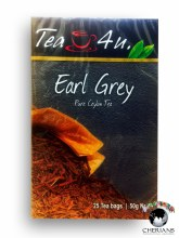 TEA 4 U EARL GREY PURE CEYLON TEA 25 TEA BAGS/50G