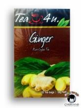 TEA 4 U GINGER PURE CEYLON TEA 25 TEA BAGS/50G