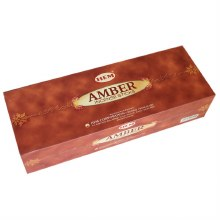 HEM AMBER INCENSE (6 PACKS OF 20 STICKS)