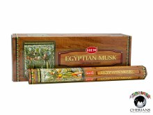HEM EGYPTIAN MUSK INCENSE (6 PACKS OF 20 STICKS)