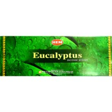 HEM EUCALYPTUS INCENSE (6 PACKS OF 20 STICKS)