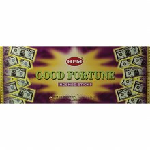 HEM GOOD FORTUNE INCENSE (6 PACKS OF 20 STICKS)