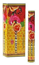 HEM HONEY ROSE INCENSE (6 PACKS OF 20 STICKS)