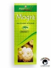 MARIGOLD MOGRA INCENSE (6 PACKS OF 20 STICKS)