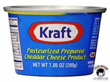 KRAFT PASTEURIZED PREPARED CHEDDAR CHEESE 200G