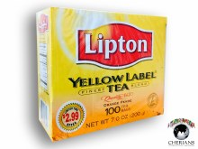 LIPTON YELLOW LABEL TEA ORANGE PEKOE 100 TEA BAGS/200G