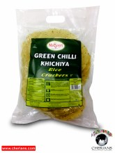 "MAYOORI GREEN CHILLI KHICHIYA (RICE CRACKERS 5"") 340G"