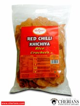 "MAYOORI RED CHILLI KHICHIYA (RICE CRACKERS 3"") 340G"