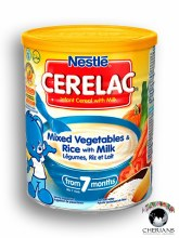 NESTLE CERELAC MIXED VEGETABLES & RICE WITH MILK 400G