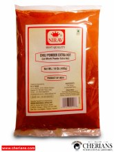 NIRAV CHILLI POWDER EXTRA HOT 400G