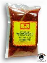 NIRAV EXTRA HOT RESHAMPATTI ED CHILLI POWDER 7 OZ