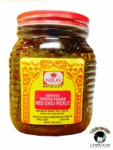 NIRAV HOMEMADE STUFFED PUNJABI RED CHILLI PICKLE 2LB