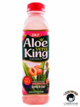 OKF ALOE VERA KING PEACH 500ML