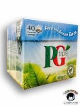 PG TIPS 40 PYRAMID TEA BAGS/125G