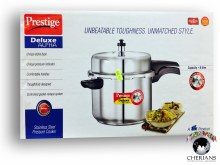 PRESTIGE DELUXE STAINLESS STEEL PRESSURE COOKER 8L