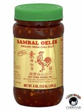 SAMBAL OELEK- GROUND FRESH SAMBAL OELEK 8 OZ