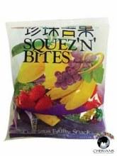 SQUEZ 'N' BITES DELICIOUS FRUITY SNACK 280G