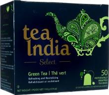 TEA INDIA SELECT GREEN 50 WRAPPED TEA BAGS/ 110G