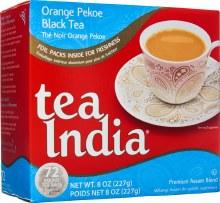 TEA INDIA ORANGE PEKOE BLACK TEA 72 ROUND TEA BAGS/ 227G