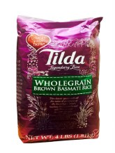 TILDA WHOLE GRAIN BROWN BASMATI RICE 4LB