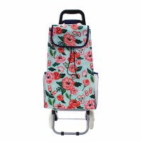 Chic Floral Rolling Cart