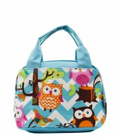 Chevron Owl Lunch Bag