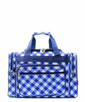"17"" Plaid Duffel"