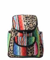 Leopard Serape Backpack