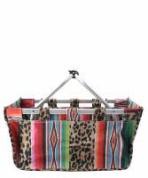 Leopard Serape Market Basket