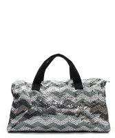 Chevron Sequin Duffel