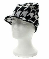 Houndstooth Winter Beanie
