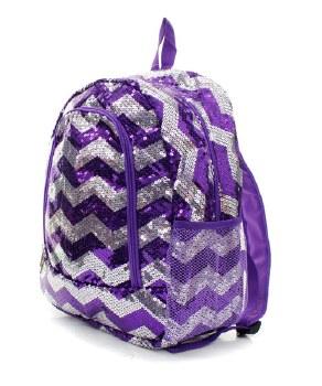 Chevron Sequin Backpack