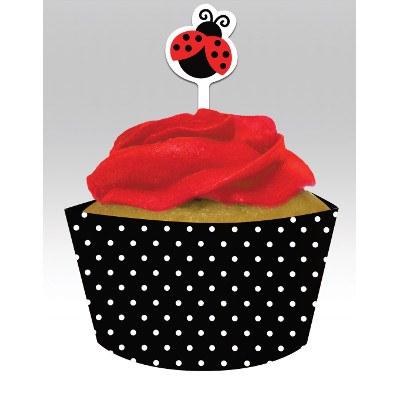 Ladybug Cupcake Wrap & Toppers