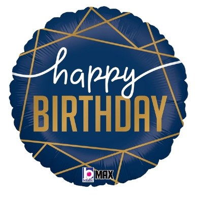 Navy Birthday Foil