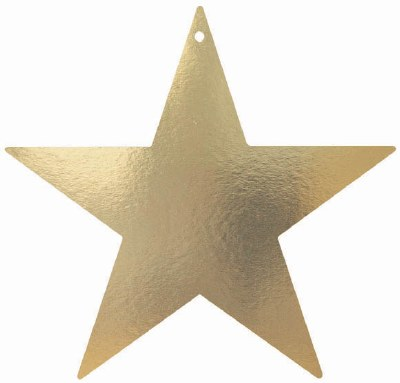 Star Cutout 15 In Gold