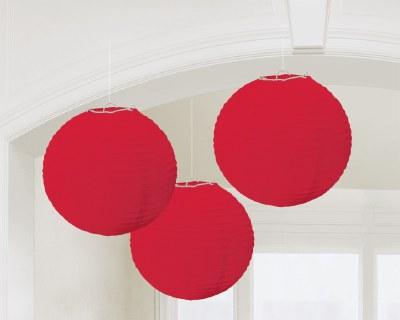 Lanterns 10in Red