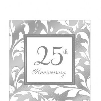 25th Anniversary Bev Napkins