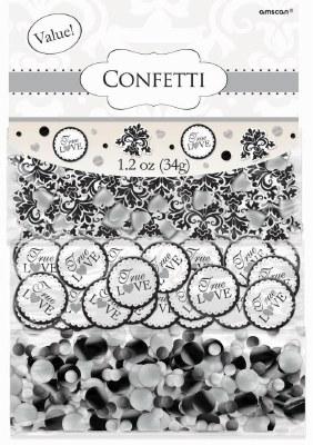 Black Scroll Confetti