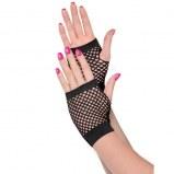 Fishnet Gloves Short Black