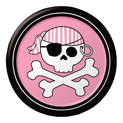 Pirate Girl Dessert Plates
