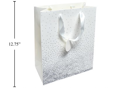 White Silver Gift Bag