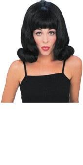 60's Flip Wig Black